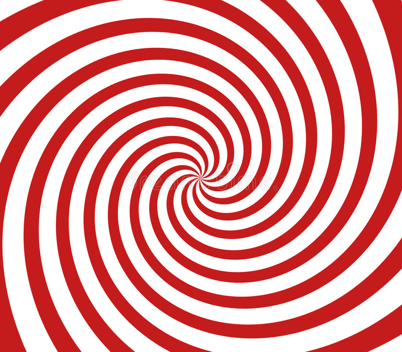 Spirale rossa e bianca fotografia stock libera da diritti