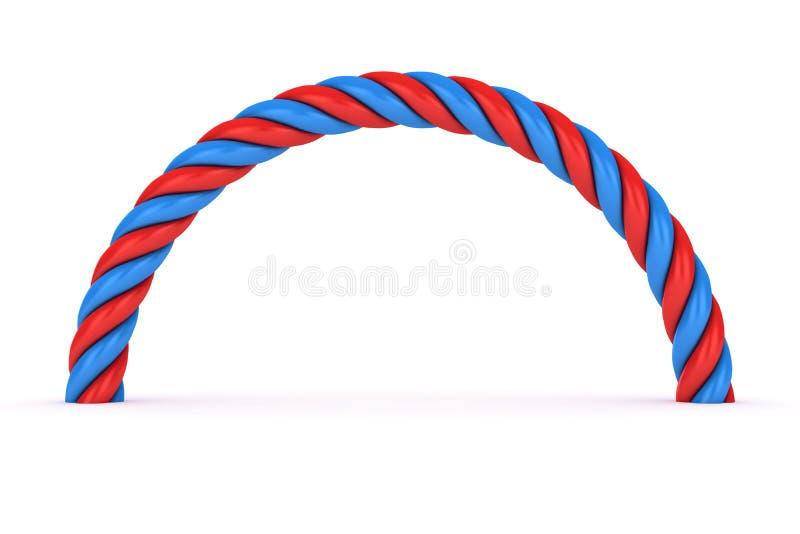 spirale Rouge-bleue illustration de vecteur