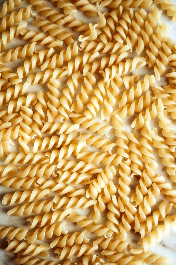 Spirale sèche de pâtes image stock