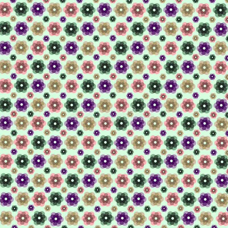 Spirale sans couture de décoration de cadre de modèle de fleur de beauté d'été d'abrégé sur sans couture abstrait modèle illustration stock