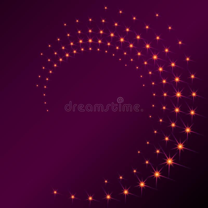Spirale scintillante illustration stock