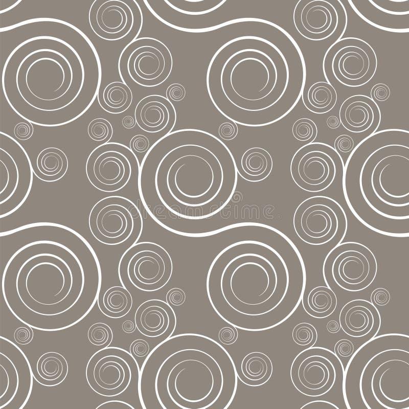 spirale szare bezszwowe spirale ilustracja wektor
