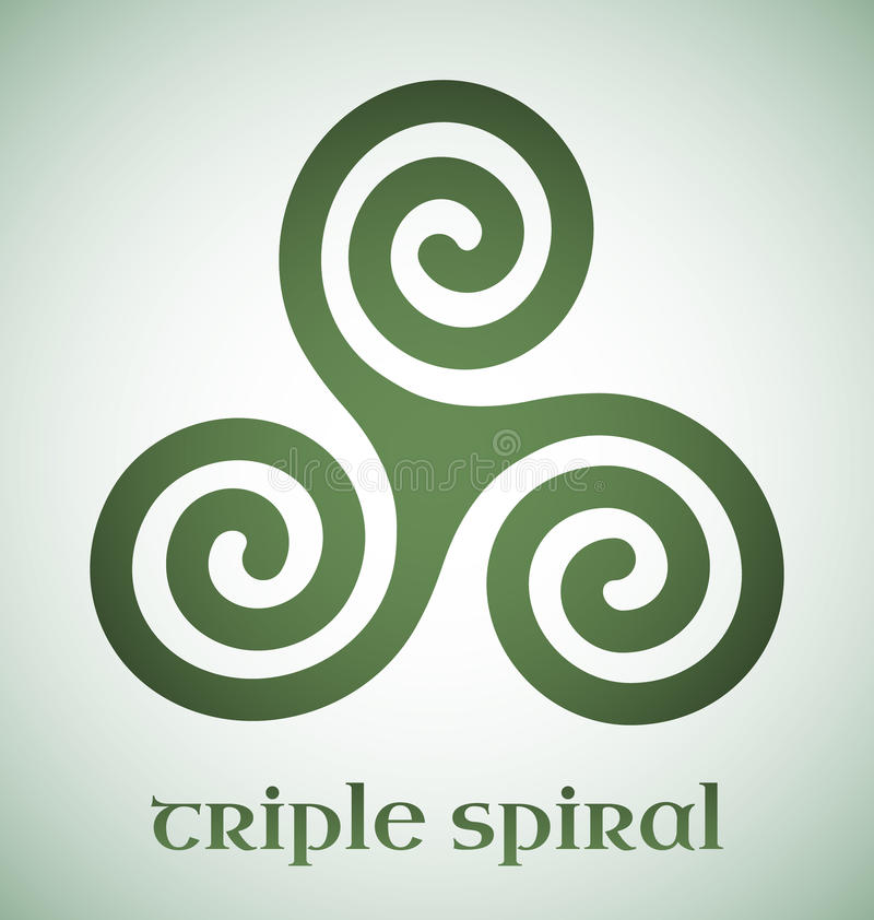 Spirale triple celtique illustration stock