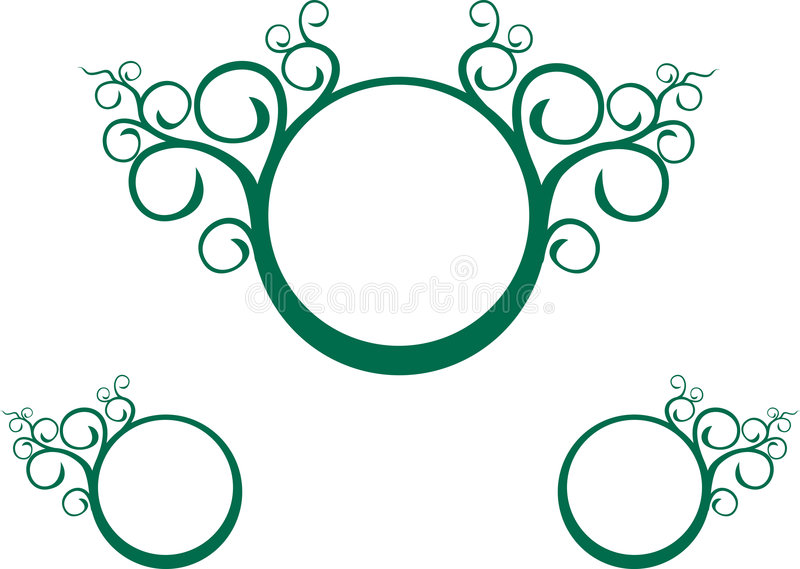 Spirale verde della vite illustrazione di stock
