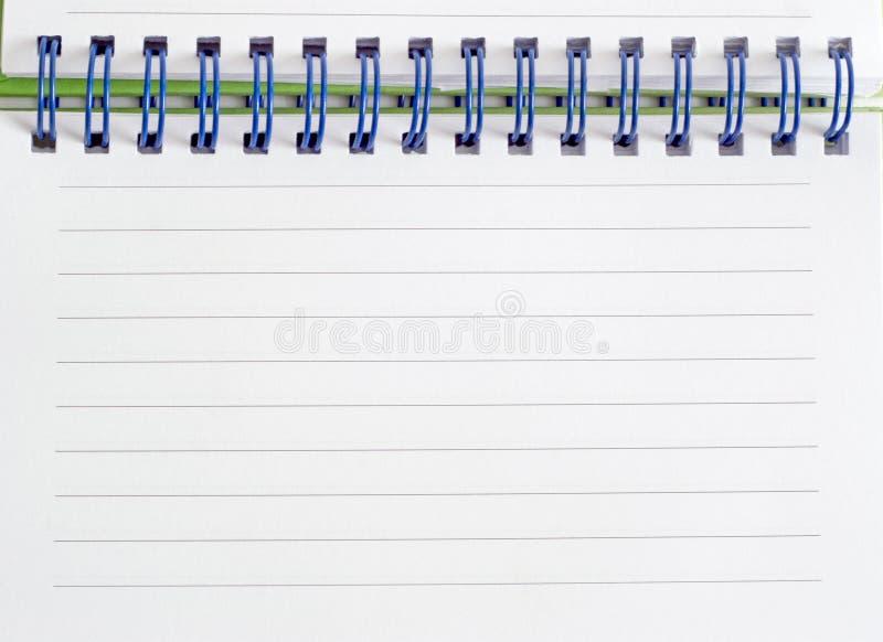 Spirale - verklemmte Anmerkungsauflage stockfoto