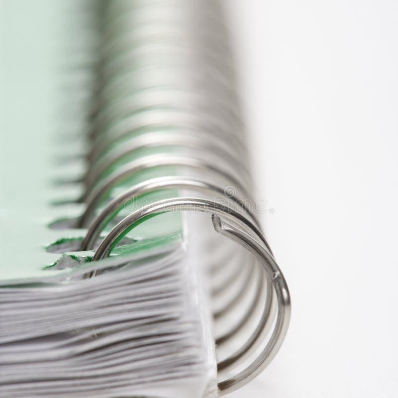 Spirale - verklemmtes Notizbuch. lizenzfreie stockfotos