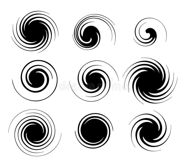 Spiralen stock abbildung