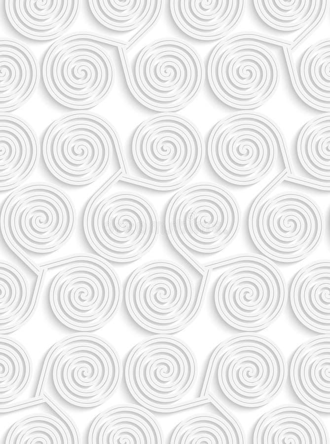Spiralen des Weißbuches 3D drei lizenzfreie abbildung