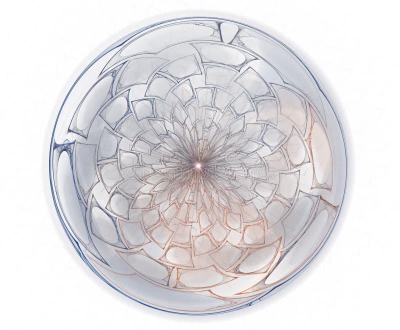 Spirales, anneaux et boucles avec la texture sur le fond illustration de vecteur