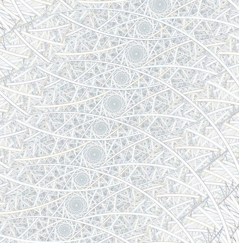 Spirales, anneaux et boucles avec la texture sur le fond illustration libre de droits