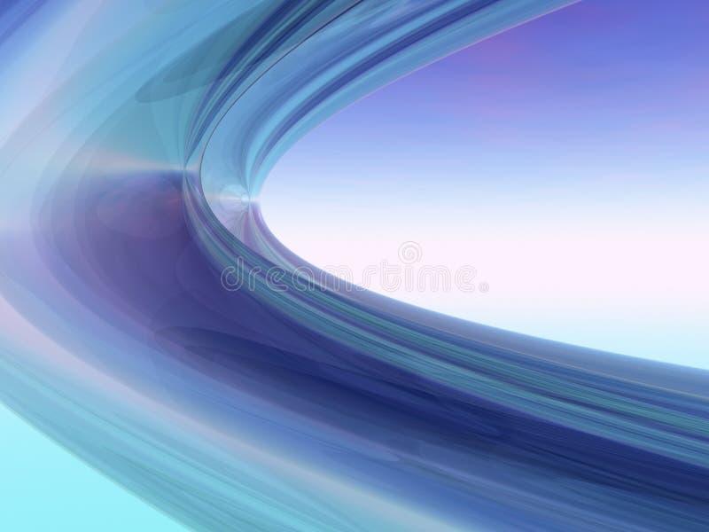 Spirales bleues photo libre de droits