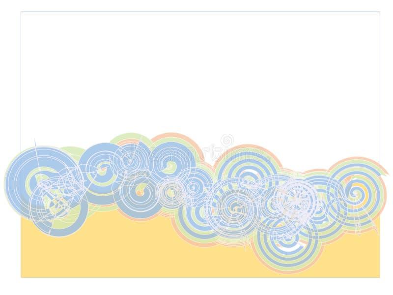 Spirales bleues sur le contexte blanc illustration de vecteur