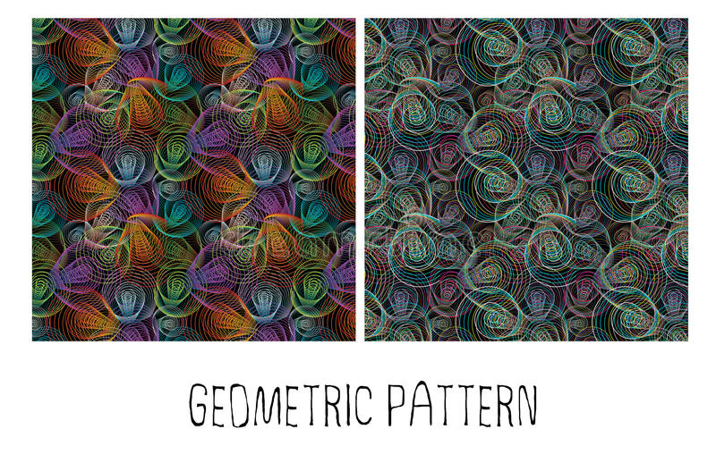 Spirales colorées illustration stock