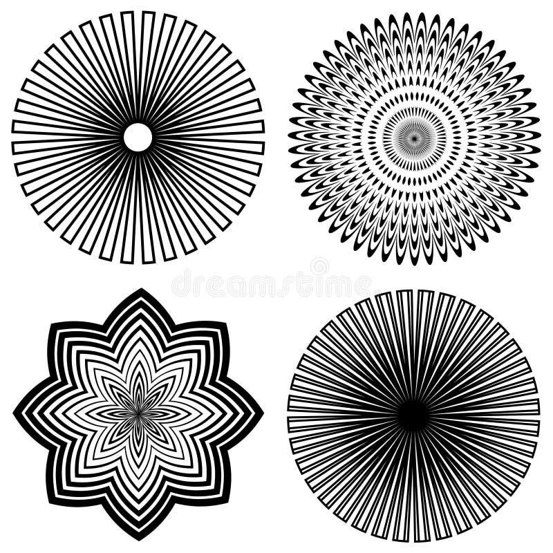 spirales d'ensemble de +EPS illustration stock