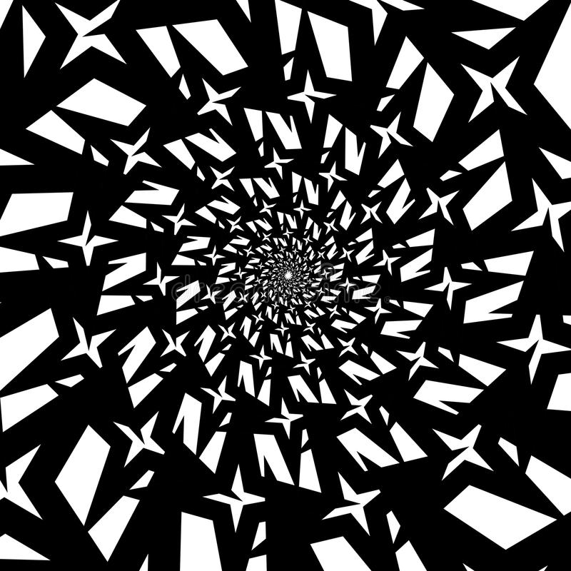 Spirales d'isolement des hexagones d'étoile sur le fond de place blanche Élément de conception illustration de vecteur