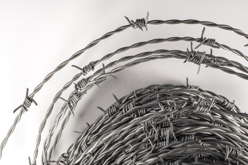 Spirales de barbelé avec le foyer sélectif photo libre de droits