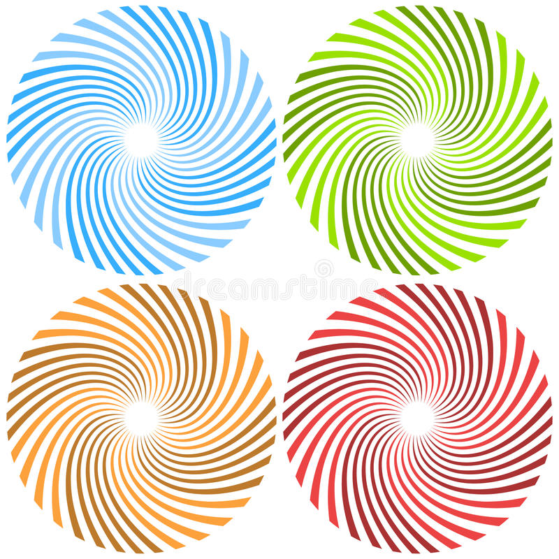 Spirales tordues Rayons circulaires, patte de rayon de soleil de starburst de faisceaux illustration de vecteur
