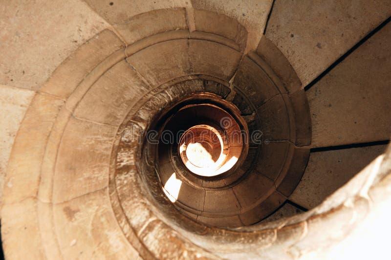 spiralformig tomar portugal trappa arkivfoto