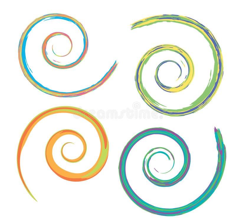 Spirali illustrazione vettoriale