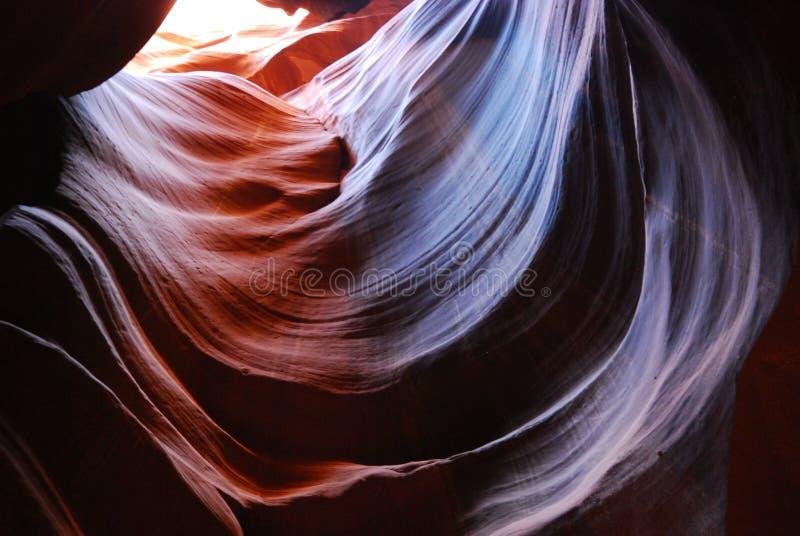 Spirali cosmiche al canyon dell'antilope fotografia stock