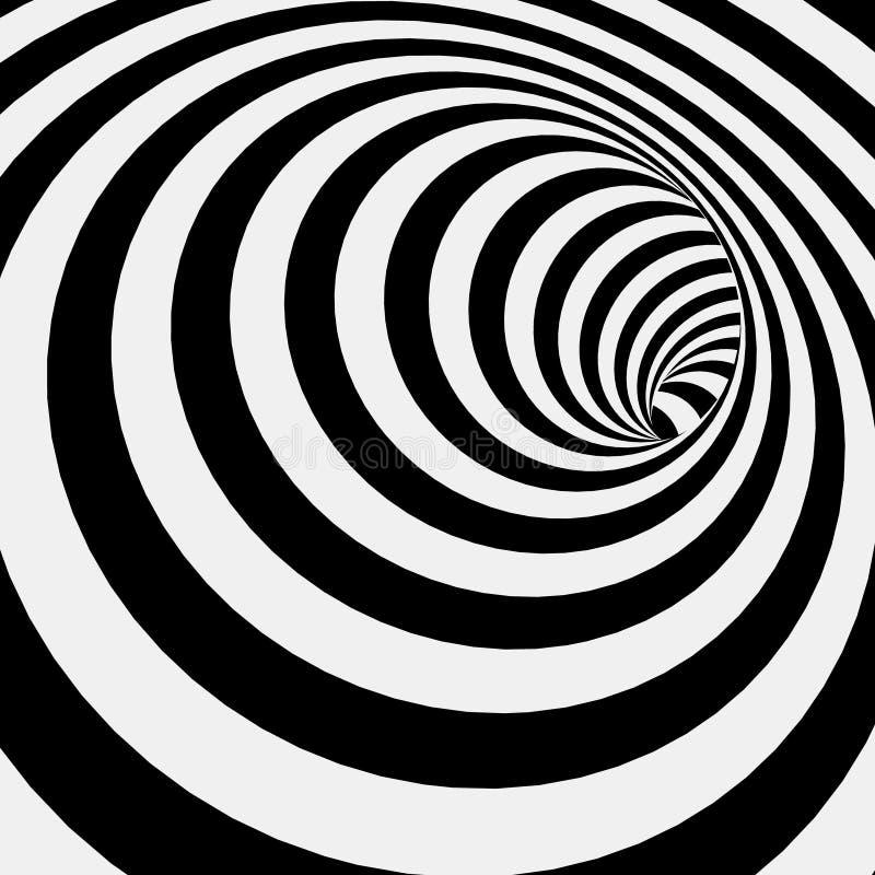 Spirali Pasiasty Abstrakcjonistyczny Tunelowy tło royalty ilustracja