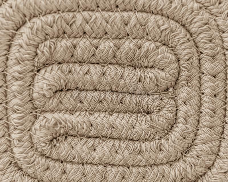 Close-up of Woven Neutral Color Basket royalty free stock image