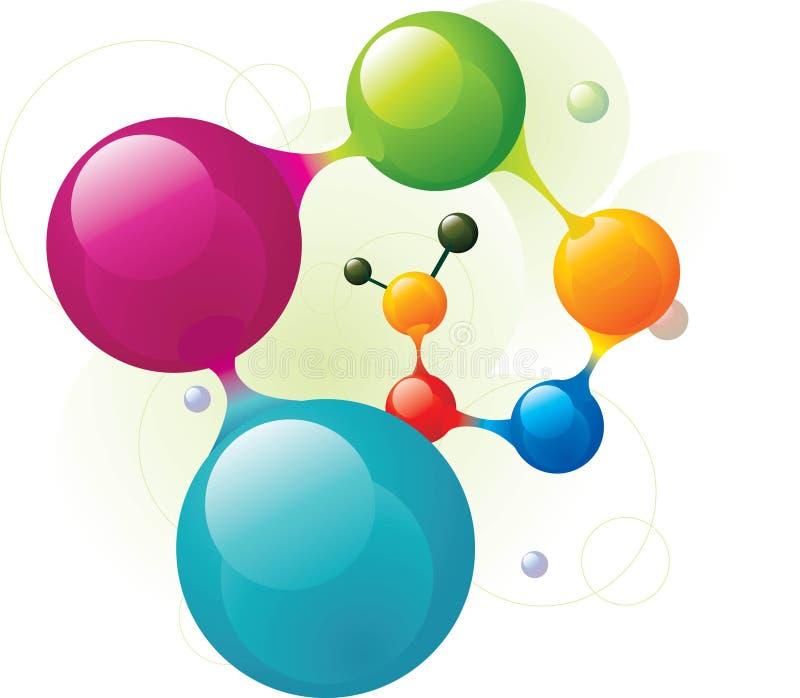 spiralmolekyl stock illustrationer