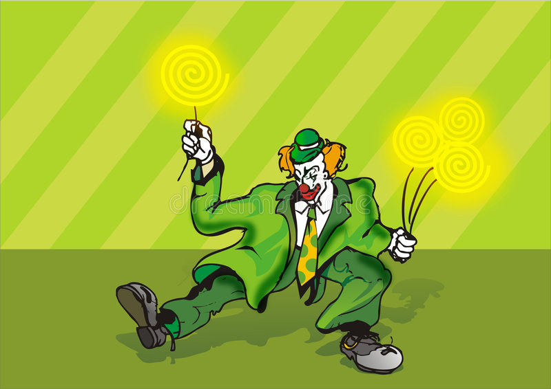 Download Spirals clown stock illustration. Illustration of funny - 208825