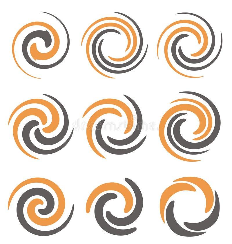 Spirals and swirls stock illustration