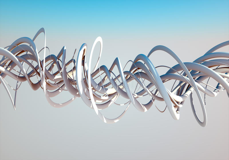 Spirals in the sky. Spirals twisting in the sky on a bright sunny day royalty free illustration