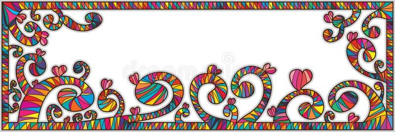 Spiralt baner för pinneramförälskelse royaltyfri illustrationer