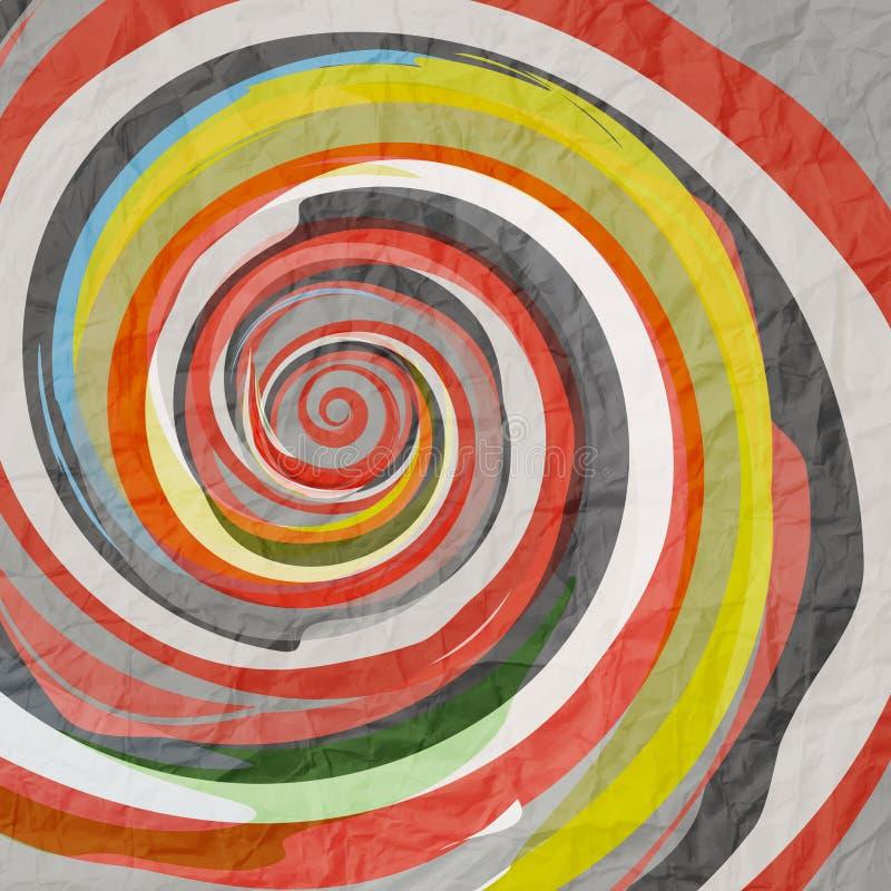 Spiralt papper vektor illustrationer