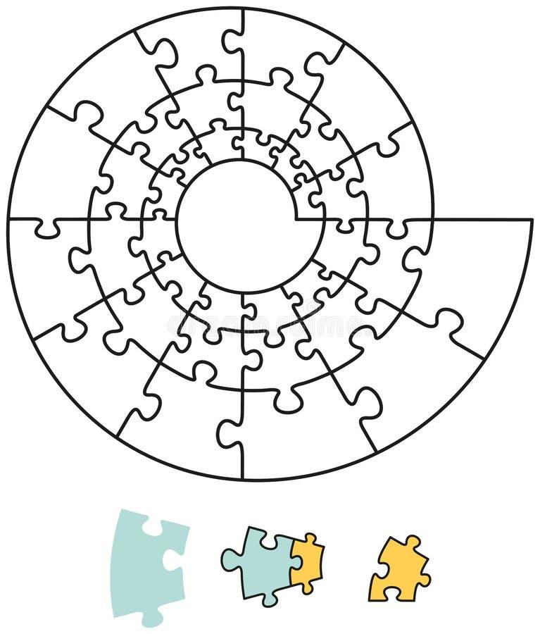 Spiralt pussel royaltyfri illustrationer