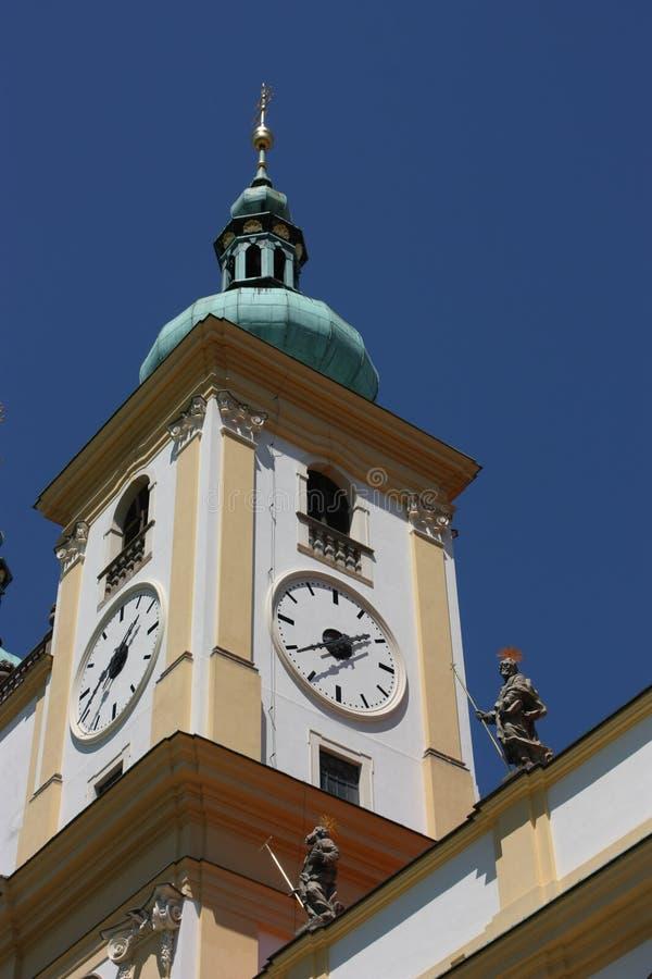 Download Spire Of Basilica Minor Church In Olomouc Stock Photo - Image of tower, facade: 12523566