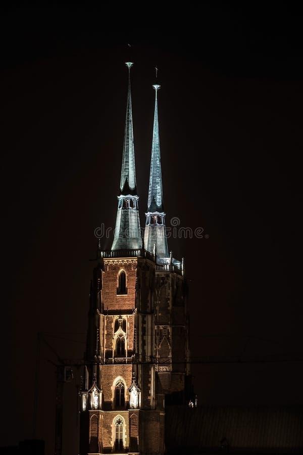 Spire Illuminated At Night Free Public Domain Cc0 Image
