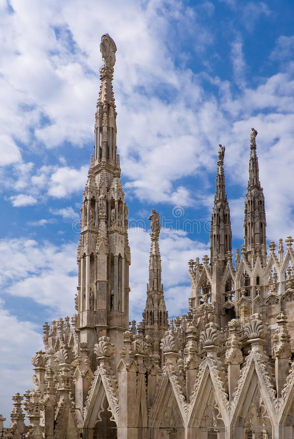 Download Spires Of The Cathedral Of Milan Stock Photo - Image: 24998642