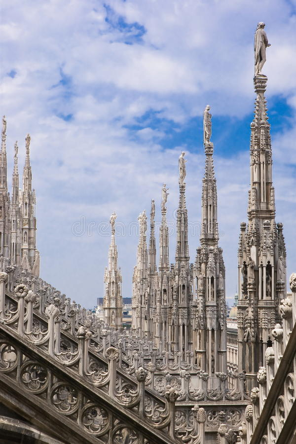 Download Spires Of The Cathedral Of Milan Stock Photo - Image of gothic, basilica: 24998970