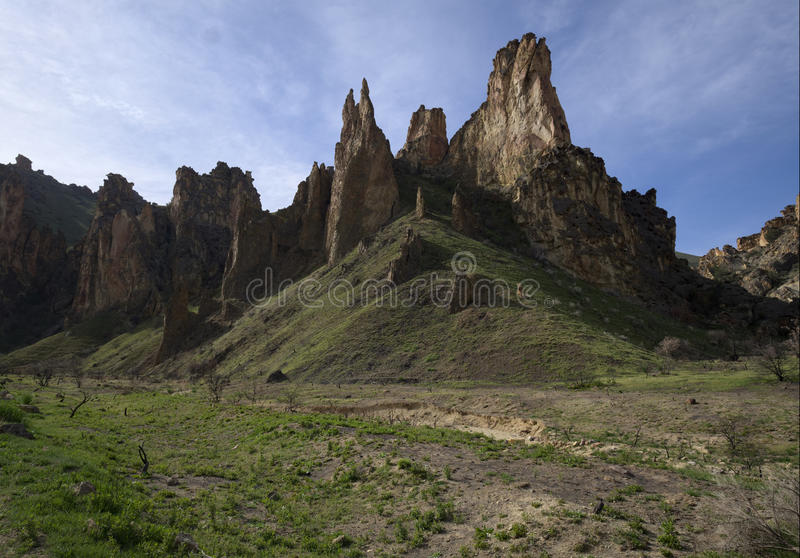 Spires in Leslie Gulch stock images