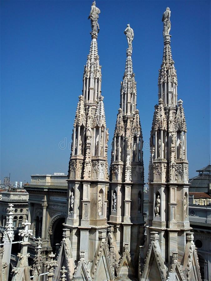 The Ring Vienna S Casual Luxury Hotel Vienna: Gothic Spires On Blue Sky Background Stock Photo