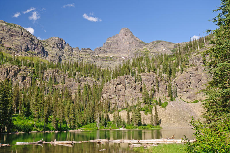 Download Spires over an Alpine Lake stock image. Image of matterhorn - 22390533
