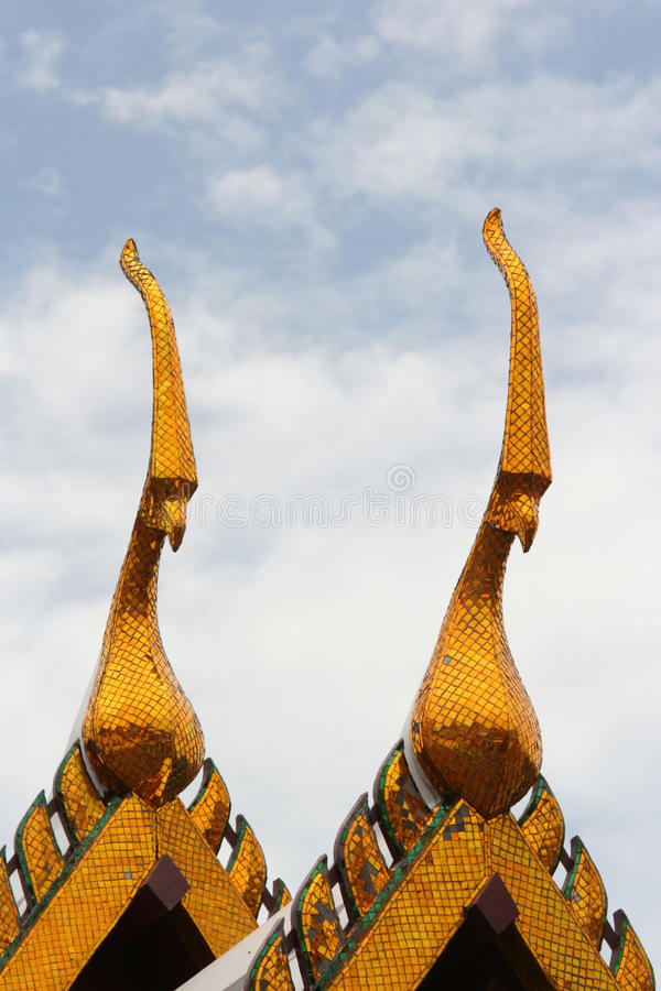 Spires on roof of royal palace in bangkok