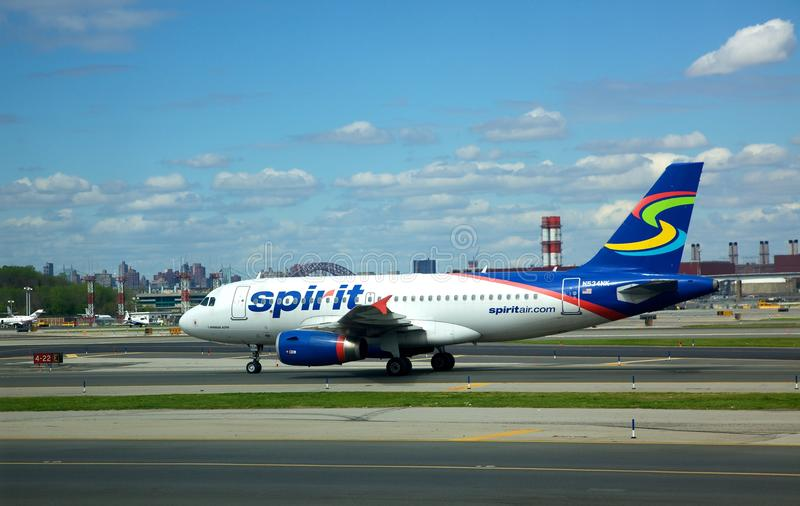 Spirit Airlines. Spirit Airines at La Guardia Airport in New York City stock photos