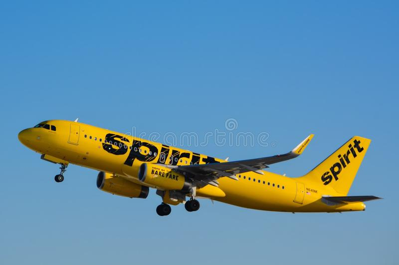 Spirit Airlines Airplanes stock image