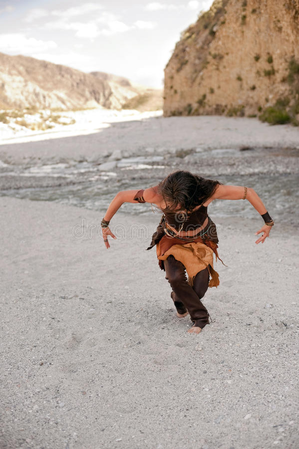 Spirit Dancer Shaman Woman royalty free stock photos
