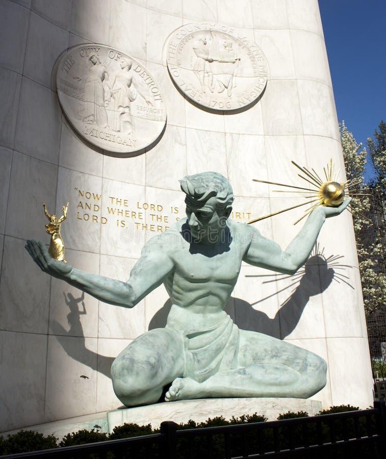 Spirit of Detroit. In Michigan, popular statue stock photo