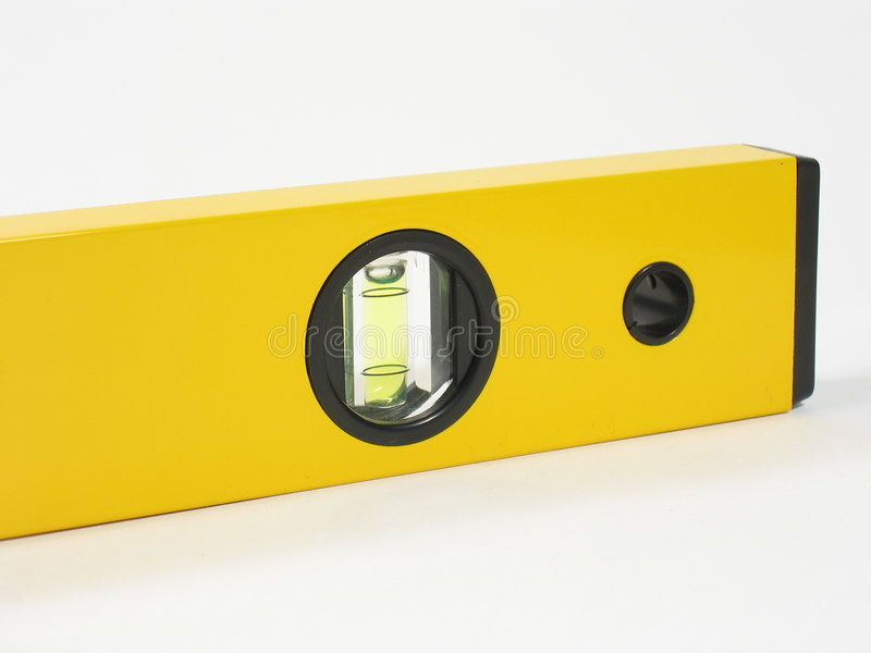 Spirit Level End Part stock images