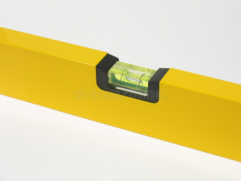 Spirit Level Middle Part stock photo