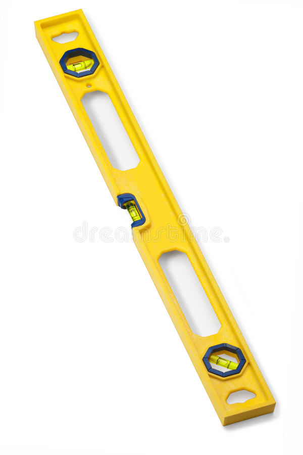 Spirit Level Tool Isolated stock photo