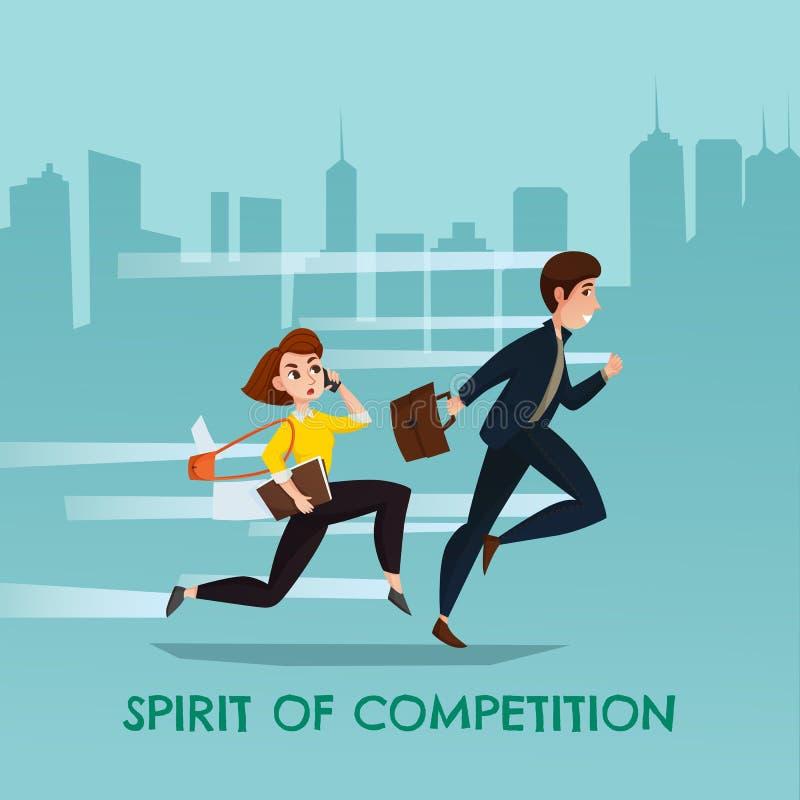 Spirito del manifesto urbano della concorrenza illustrazione vettoriale