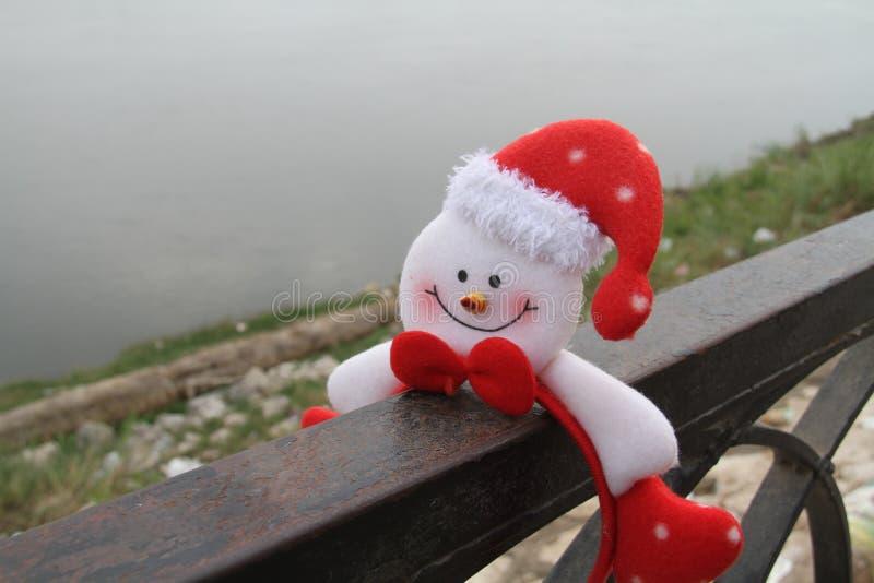 Spirito di natale? con Santa e Noel fotografia stock